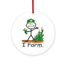 Farmer Ornament (Round)