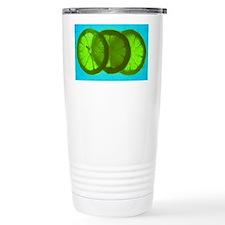 Three slices Of Lime Travel Mug