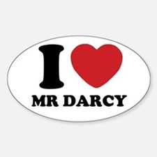 I Heart Mr. Darcy Decal