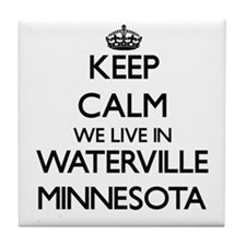Keep calm we live in Waterville Minne Tile Coaster
