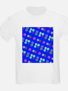 Blue Hello Soccer Football Fiesta for Mort T-Shirt