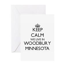 Keep calm we live in Woodbury Minne Greeting Cards