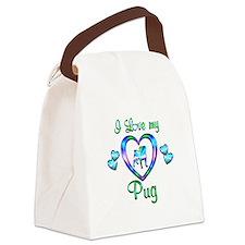 Love My Pug Canvas Lunch Bag