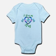 Love My Pug Infant Bodysuit