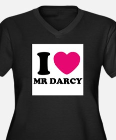 I HEART Mr. DARCY PINK Plus Size T-Shirt