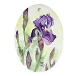 Iris Oval Ornament