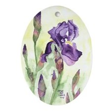 Iris Oval Ornament