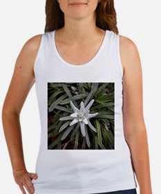 White Alpine Edelweiss Flower Tank Top