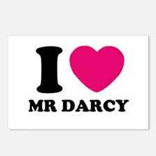 I HEART Mr. DARCY PINK Postcards (Package of 8)