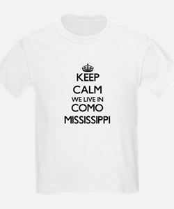 Keep calm we live in Como Mississippi T-Shirt