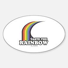 Taste the rainbow Oval Decal