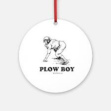 Plow boy Ornament (Round)