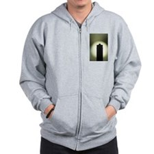 AAA Battery silhouette art photo Zip Hoodie