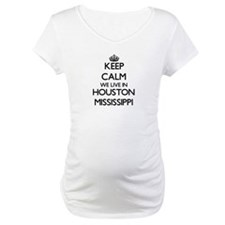 Keep calm we live in Houston Mis Shirt