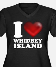 I Heart Whidbey Island Plus Size T-Shirt