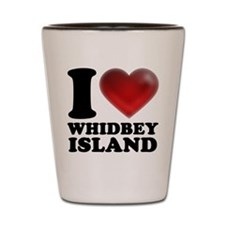 I Heart Whidbey Island Shot Glass