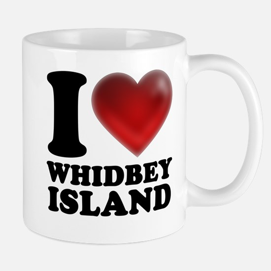 I Heart Whidbey Island Mugs