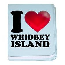 I Heart Whidbey Island baby blanket