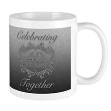 40th Wedding Anniversary Mugs