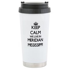 Keep calm we live in Me Travel Mug