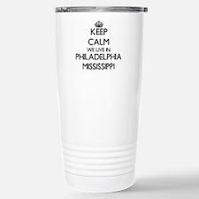 Keep calm we live in Ph Travel Mug