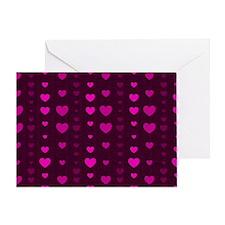 Violet Hearts Greeting Card