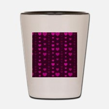 Violet Hearts Shot Glass
