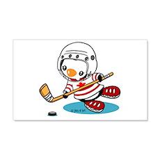 Ice Hockey Penguin Wall Decal