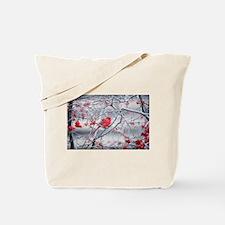 Red Bird & Berries Tote Bag