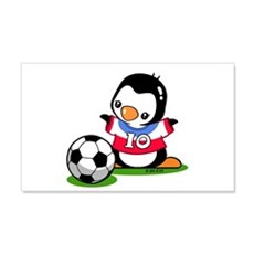Soccer Penguin Wall Decal
