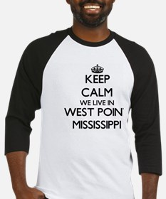 Keep calm we live in West Point Mi Baseball Jersey