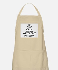 Keep calm we live in West Point Mississippi Apron