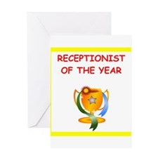 receptionist Greeting Cards