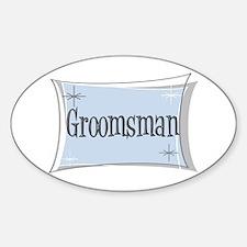 Groomsman Oval Decal