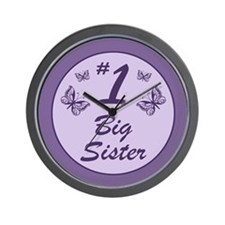 #1 Big Sister Wall Clock