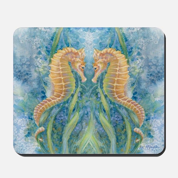 sweet seahorses Mousepad