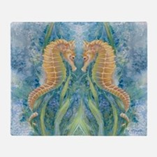 Sweet Seahorses Throw Blanket
