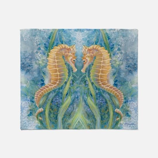 Sweet Seahorses Throw Blanket