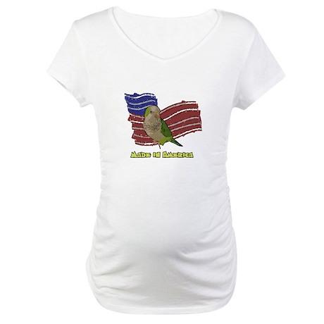 Patriotic Quaker Parrot Maternity T-Shirt