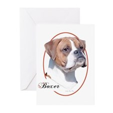 Boxer (Natural) Cameo Greeting Cards (6)