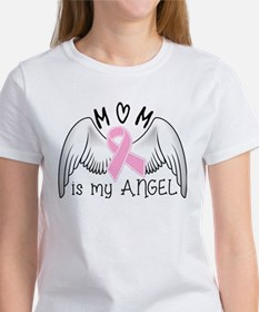 Breast Cancer Awareness Mom Is My Angel T-Shirt