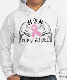 Breast Cancer Awareness Mom Is My Angel Hoodie