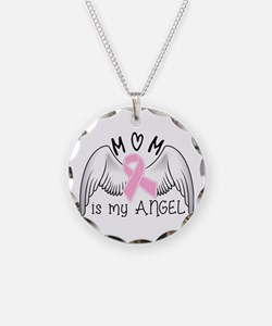 Breast Cancer Awareness Mom Necklace