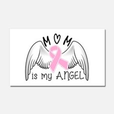 Breast Cancer Awareness Mom Is Car Magnet 20 X 12