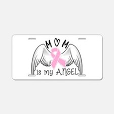 Breast Cancer Awareness Mom Aluminum License Plate