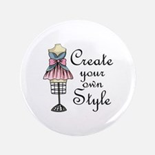 "Create Your Own Style 3.5"" Button"