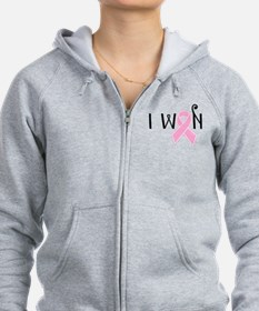 I WON Breast Cancer Awareness Zip Hoodie
