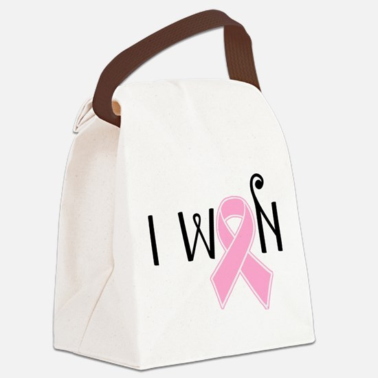 I WON Breast Cancer Awareness Canvas Lunch Bag