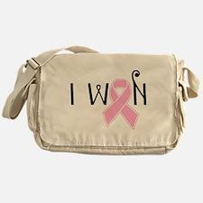 I WON Breast Cancer Awareness Messenger Bag