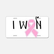 I WON Breast Cancer Awareness Aluminum License Pla